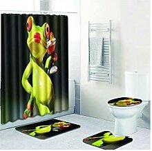 Knbob Badvorleger Set 5Teilig Frosch Mit Glas