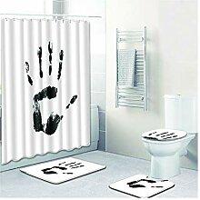 Knbob Badvorleger Set 5Teilig Hand Drucken Style04