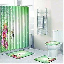 Knbob Badvorleger Set 6 Teilig Pflanzen & Blumen