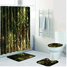 Knbob Badvorleger Set 7 Abstrakte Designs Stil 02
