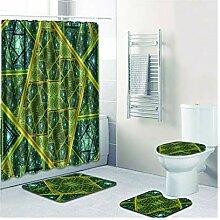Knbob Badvorleger Set 7 Abstrakte Designs Stil 06