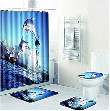 Knbob Fußmatten 4 Delphin Stil 1 Wc Teppich