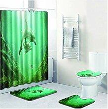 Knbob Fußmatten 4 Delphin Stil 10 Wc Teppich