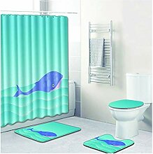 Knbob Fußmatten 4 Delphin Stil 3 Wc Teppich