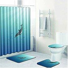 Knbob Fußmatten 4 Delphin Stil 4 Wc Teppich