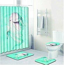 Knbob Fußmatten 4 Delphin Stil 6 Wc Teppich