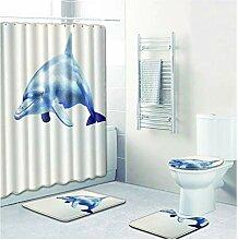 Knbob Fußmatten 4 Delphin Stil 8 Wc Teppich
