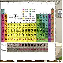 Knbob Gardinen Duschvorhang Periodensystem Style05
