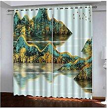 Knbob Polyester Gardine Bunt Landschaftsmalerei
