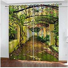 Knbob Polyester Gardine Grün Korridoranlage