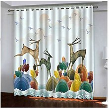Knbob Polyester Gardinen Mehrere Farben