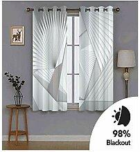 Knbob Polyester Vorhänge Grau Geometrisch