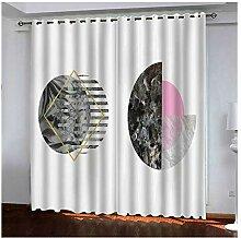 Knbob Polyester Vorhang Weiß Schwarz
