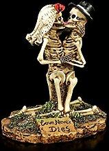 kniendes Skelett Gothic-Brautpaar Figur - Love