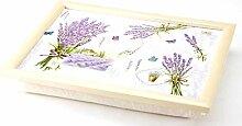 Knietablett mit Kissen Laptray - Lavendel - 43.5 x