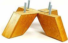 Knightsbrandnu2u 4x Möbelfüße aus Holz Ersatz