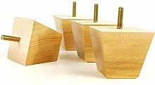Knightsbrandnu2u 4x Möbelfüße aus Holz Holz