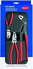Knipex Werkzeuge 002010Seitenschneider Kombination und Cobra Zangen Profi Werkzeug Set (3Stück)
