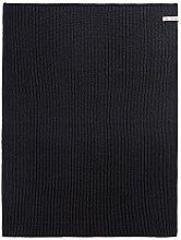 Knit Factory Badematte, Baumwoll-Mischgewebe, Schwarz/Anthrazit, 0.48 x 0.33 cm