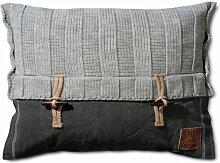 Knit Factory Dekokissen Strickkissen Rippe / 60 x