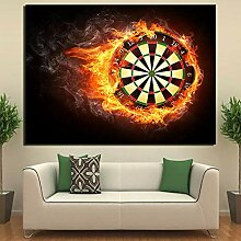 Knncch 1 Pc Leinwand Kunst Blooming Dart Board