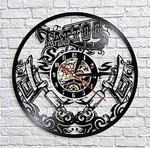 Knncch 1 Stück Tattoo Shop Silhouette Uhr