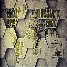 Knncch China Karte Tapete Für Wohnzimmer 3D