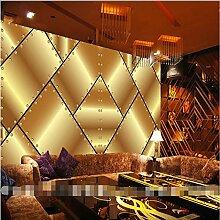 Knncch Wandtapete Für Wohnzimmer Goldene Metall