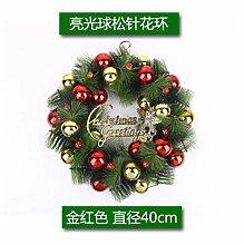 Knncch Weihnachtskranz Weihnachtsschmuck Rote