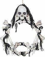 Knochen Kranz beleuchtet Halloween Dekoration