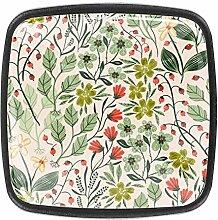 Knöpfe mit Blumenmuster mit bunten Sommerpflanzen