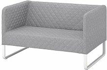 KNOPPARP IKEA 2er-Sofa in hellgrau