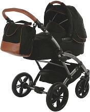Knorr-Baby Voletto Premium Kinderwagen Schwarz