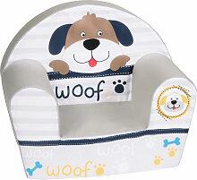 Knorrtoys Kindersessel Woof (Grau-Beige)