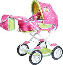 Knorrtoys Puppenwagen Salsa Heidi (Pink-Grün) [Kinderspielzeug]