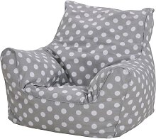 Knorrtoys Sitzsack Dots, grey, für Kinder; Made