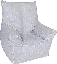 Knorrtoys Sitzsack Geo cube, grey, für Kinder;
