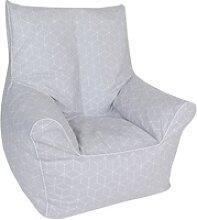 Knorrtoys® Sitzsack Geo cube, grey, für Kinder