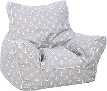Knorrtoys Sitzsack Maritim Grey, für Kinder; Made