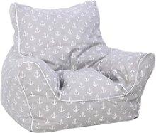 Knorrtoys® Sitzsack Maritim Grey, für Kinder;
