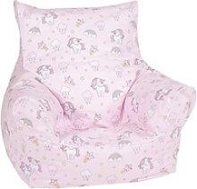 Knorrtoys® Sitzsack Rainbow Unicorn, für Kinder;