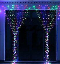 KNOW LED-Schnur-Lichter ----- 300 LED-Innen-und Außen Vorhänge Eiszapfen Lichterketten Lichterketten in der Hochzeit Gartenhaus Schlafzimmer genutzt Weihnachtsbeleuchtung Dekoration 3 m * 3 m (Muti-color)