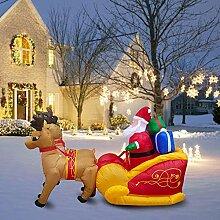 knowledgi Aufblasbarer Weihnachtsmann mit