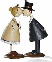 Knutschis Oma und Opa Metall Figur Dekoration Deko Goldene Hochzeit Großmutter
