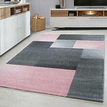 Koah Rosa/Grauer Teppich