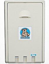 Koala Klappbare Wickelstation KB-101 Vertikal MICROBAN® Hygieneschutz 3 Varianten, Farbe:Elfenbein