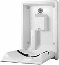 Koala Klappbare Wickelstation KB-101 Vertikal MICROBAN® Hygieneschutz 3 Varianten, Farbe:Grau