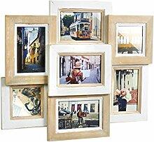 Kobolo Bilderrahmen-Collage aus Holz 49x44cm weiß