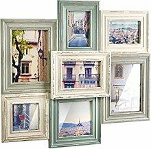 Kobolo Bilderrahmen-Collage aus Holz 49x52cm Mint