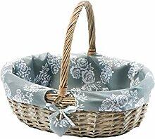 Kobolo Einkaufskorb Picknickkorb Weide grau